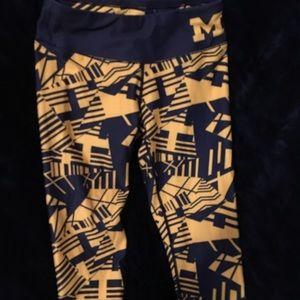 Michigan Leggings Blue And Yellow XS
